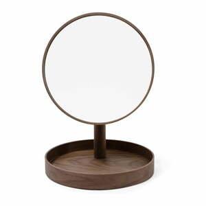 Kozmetické zrcadlo s rámom z orechového dreva Wireworks Cosmos, ø 25 cm