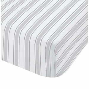 Sivo-biela bavlnená plachta Bianca Check And Stripe, 90 x 190 cm
