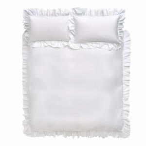 Biele bavlnené obliečky Bianca Frill, 135 x 200 cm