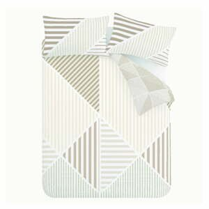 Béžové obliečky Catherine Lansfield Block Geo, 135 x 200 cm