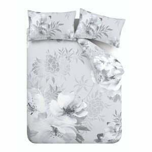 Sivé obliečky Catherine Lansfield Dramatic Floral, 200 x 200 cm