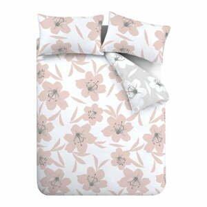 Ružovo-biele obliečky Catherine Lansfield Lily, 135 x 200 cm