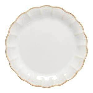Biely kameninový dezertný tanier Casafina, ⌀ 23 cm