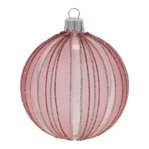 Súprava 3 svetlružových vianočných ozdôb Ego Dekor