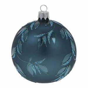 Súprava 3 modrých sklenených vianočných ozdôb Ego Dekor