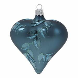 Súprava 3 modrých sklenených vianočných ozdôb Ego Dekor Heart
