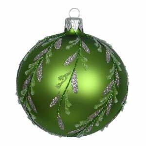 Súprava 3 zelených sklenených vianočných ozdôb Ego Dekor Forest