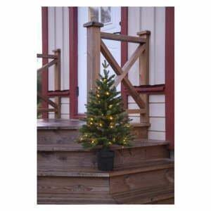 Umelý vianočný stromček s LED osvetlením Star Trading Byske, výška 90 cm