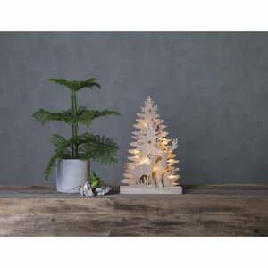 Vianočná drevená svetelná LED dekorácia Star Trading Fauna