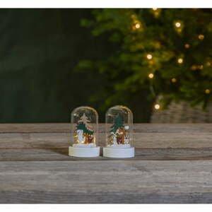 Súprava 2 vianočných svetelný LED dekorácií Star Trading Forest Friend