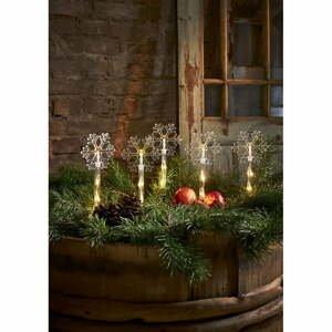 Vianočná vonkajšia svetelná LED dekorácia Star Trading Wandy Snowflake