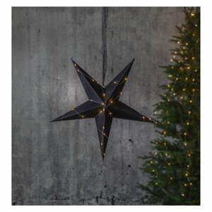 Čierna vianočná svetelná dekorácia Star Trading Velvet
