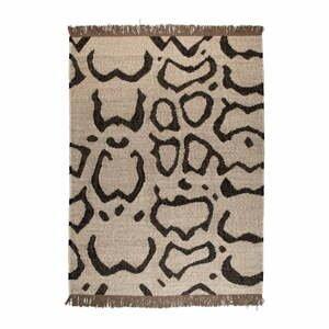 Béžovo-čierny vlnený koberec Dutchbone Ayaan, 170 x 240 cm