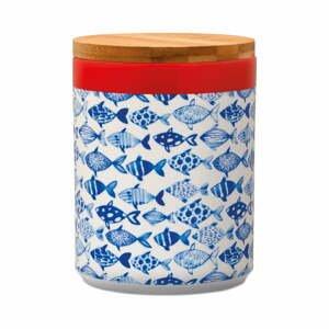 Dóza na skladovanie potravín s bambusovým vekom Remember Fish, 1,25 l