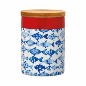 Dóza na skladovanie potravín s bambusovým vekom Remember Fish, 275 ml
