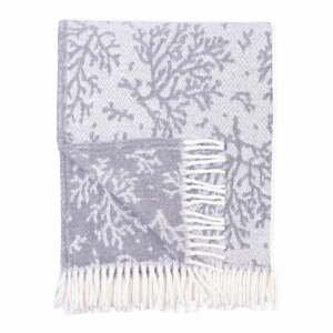 Sivý pléd s podielom bavlny Euromant Coral, 140 x 180 cm