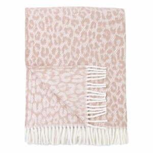 Ružový pléd s podielom bavlny Euromant Leopard, 140 x 180 cm