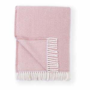 Ružový pléd s podielom bavlny Euromant Skyline, 140 x 180 cm