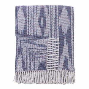 Modrý pléd s podielom bavlny Euromant Zanzibar, 140 x 180 cm