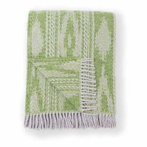 Zelený pléd s podielom bavlny Euromant Zanzibar, 140 x 180 cm