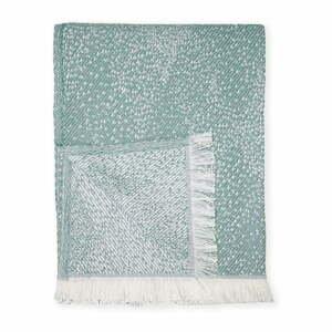 Zelený pléd s podielom bavlny Euromant Dotty Diamond, 140 x 180 cm