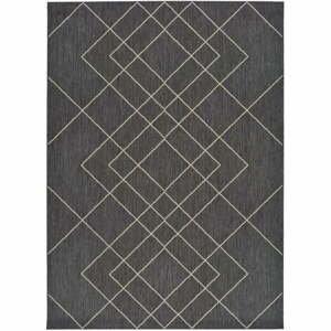 Sivý vonkajší koberec Universal Hibis, 135 x 190 cm