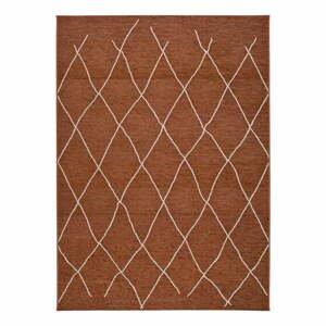 Hnedo-oranžový vonkajší koberec Universal Sigrid, 77 x 150 cm