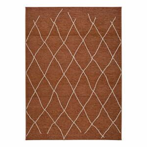 Hnedo-oranžový vonkajší koberec Universal Sigrid, 130 x 190 cm