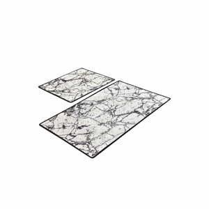 Súprava 2 obdĺžnikových kúpeľňových predložiek Chilai Marble