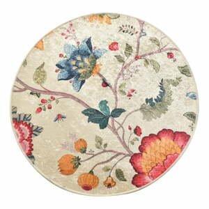 Kúpeľňová predložka Chilai Circle Vintage Flower, ø 140 cm