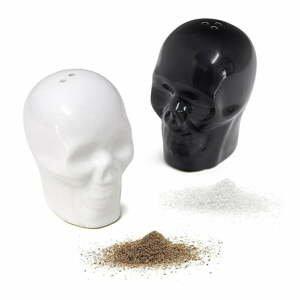 Porcelánová soľnička a korenička Balvi Skelets