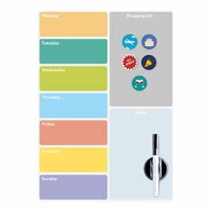Magnetická tabuľa na chladničku Balvi Week Planner
