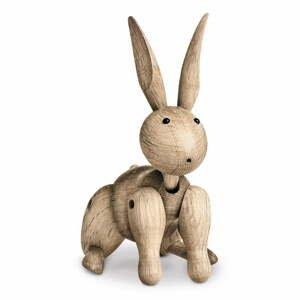 Soška z masívneho dubového dreva Kay Bojesen Denmark Rabbit