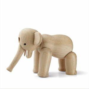 Soška z masívneho dubového dreva Kay Bojesen Denmark Elephant