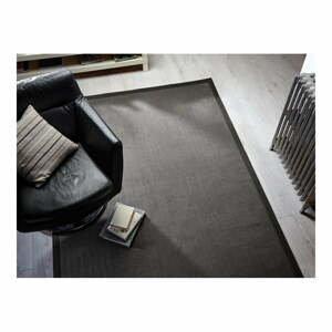 Sivý koberec z juty Flair Rugs Check, 80 x 150 cm