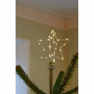 LED svietiaca špička na stromček Sirius Christina Silver, výška 25 cm