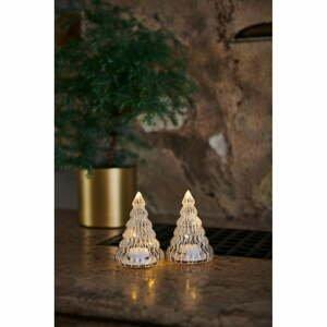 Súprava 2 svetelný LED dekorácií Sirius Lucy Tree White, výška 9 cm