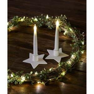 Súprava 2 svetelných LED dekoracií Sirius Olina Star, výška 15 cm