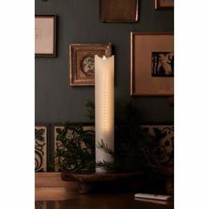 Adventná LED sviečka Sirius Sara Gold, 29 cm