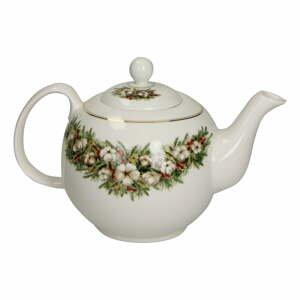 Porcelánová kanvica na čaj s vianočným motívom Brandani Teiera Batuffoli