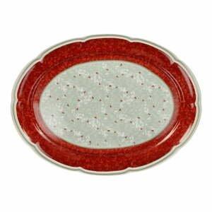Porcelánový tanier s vianočným motívom Brandani Connubio, dĺžka 40 cm