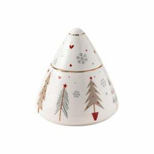 Porcelánová cukornička s vianočným motívom Brandani Fiocco, ⌀ 10,5 cm