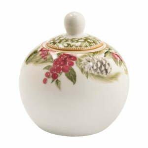 Porcelánová cukornička Brandani Sottobosco, ⌀ 10,5 cm