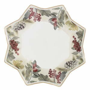 Porcelánový servírovací tanier Brandani Sottobosco, dĺžka 24 cm