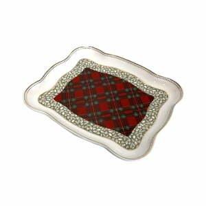 Porcelánový servírovací tanier s vianočným motívom Brandani Vassoietto, dĺžka 19 cm