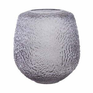 Sivá sklenená váza Premier Housewares Colbie, výška 21,5 cm