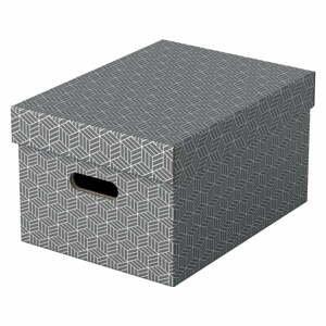 Súprava 3 sivých úložných škatúľ Leitz Eselte, 26,5 x 36,5 cm