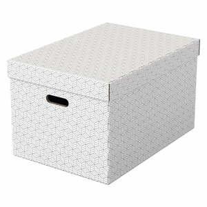 Súprava 3 bielych úložných škatúľ Leitz Eselte, 35,5 x 51 cm