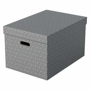 Súprava 3 sivých úložných škatúľ Leitz Eselte, 35,5 x 51 cm