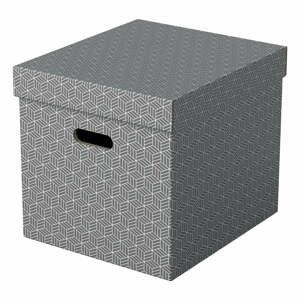 Súprava 3 sivých úložných škatúľ Leitz Eselte, 32 x 36,5 cm
